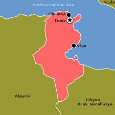 tunisia physical map tunisia jpg