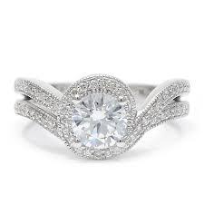 frederick goldman wedding bands curved shank engagement ring by frederick goldman wixon jewelers