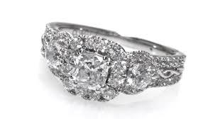 best diamond store diamond frame three stone engagement ring in 14k white gold h i