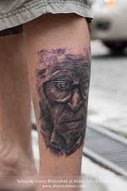 hyper realistic portrait tattoo by sunny bhanushali at aliens tattoo
