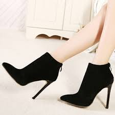 s zipper ankle boots s solid pointed toe back zipper stiletto ankle boots