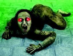 spooky demon crawling display halloween decoration display