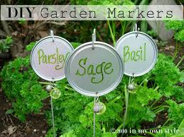 Vegetable Garden Labels by Creative Garden Markers In My Own Style