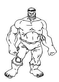 incredible hulk standing tall coloring netart