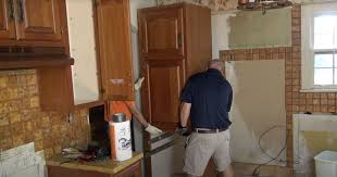 removing kitchen wall cabinets kitchen demolition cabinet removal showcase home