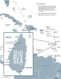 Saint Lucia Map St Lucia West Indies Lumière Villas Beachfront Development
