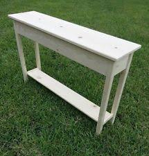 Unfinished Console Table Pine Handmade Console Tables Ebay