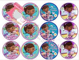 doc mcstuffins cupcake toppers doc mcstuffins theme toys co nz