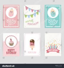Invitation Card Birthday Greeting Card Birthday Invitation Card Baby Stock Vector 453578608