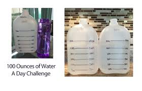 Challenge Of Water 100 Ounces A Day Water Challenge