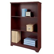 Bookshelves Office Depot by Realspace Magellan Collection 3 Shelf Bookcase Classic Cherry By