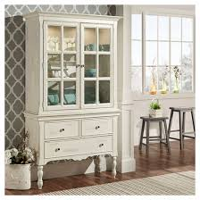 meadow hills china cabinet wood antique white inspire q target