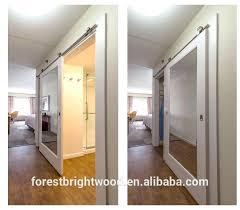Barn Door Ideas For Bathroom Barn Door With Mirror Inn Mirror Sliding Barn Doors For Bathroom