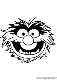12 muppet colouring pages including kermit piggy gonzo