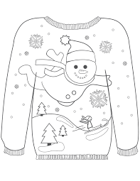 christmas pages to color 16 ugly christmas sweater colouring pages mum in the madhouse
