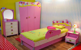other design little pink cabinet at kids bedroom with colorful