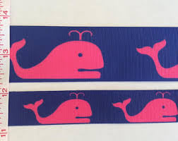 whale ribbon pink whale ribbon etsy