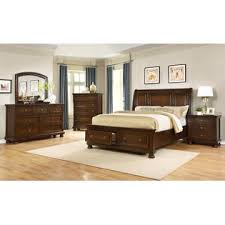 esofastore new traditional look formal queen size bed nightstand