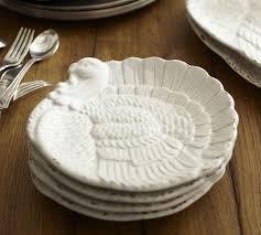 pottery barn turkey plates thanksgiving turkey