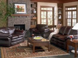 Living Room With Brown Leather Sofa Custom Country Style Bedroom Furniture Sets Coffee Table Iron