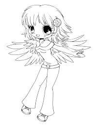 cute delilah chibi drawing coloring page netart