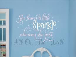 Little Girls Bedroom Wall Decals Sparkle Saying Wall Decal Wall Saying She Leaves A Little