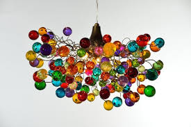 multi colored hanging lights multicolored bubbles light fixture hanging l with