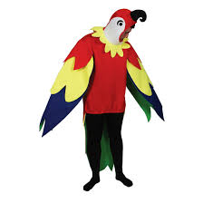 adults polly the parrot bird fancy dress up party halloween