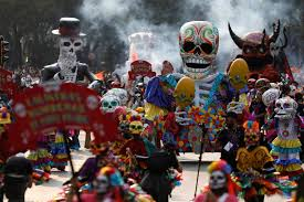 of the mexico s day of the dead parade pays tribute to quake victims