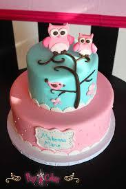 owl birthday cake 12 birds tier birthday cakes pink photo