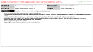 Auto Mechanic Resume Sample by Warehouse Lumper Resumes Samples