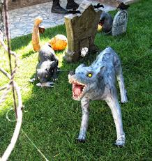 decorating engaging autumn themed halloween decorations for your