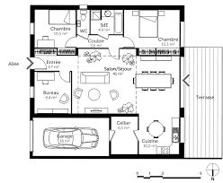 plan de maison de plain pied 3 chambres plan maison 3 chambres plain pied frais maison plain pied en l