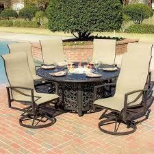 smart sling patio furniture sets elegant fire pit dining table with