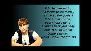 Backyard Party Lyrics If I Ruled The World Big Time Rush Lyrics Video Youtube