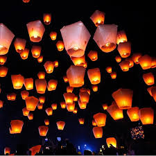 Lanterns Decorated For Christmas by Aliexpress Com Buy 2017 Chineses Sky Paper Lanterns Lamps Flying