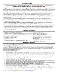 Marketing Director Resume Sample by Digital Marketing Director Resume Free Resume Example And