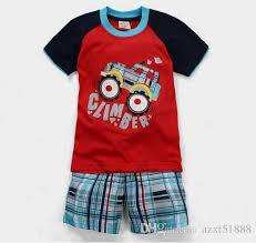 summer childrens pajamas baby sleeved nightwear
