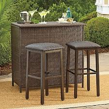Bed Bath And Beyond Bar Stool Barrington Wicker Deluxe Outdoor Bar And Barstools Bed Bath U0026 Beyond