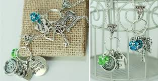 custom charm necklaces custom charm necklaces for 11 99 includes 5 charms from 100