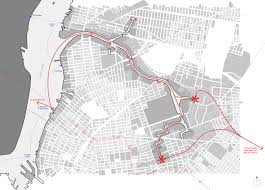 L Map Chicago by Newtown Creek Ferry Wins Design Contest For Proposed L Train