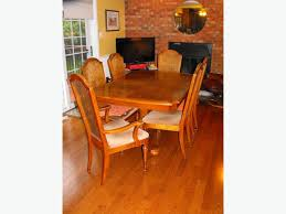 To Give Away Sklar Peppler Oak Dining Room Set W Hutch FREE - Oak dining room sets with hutch
