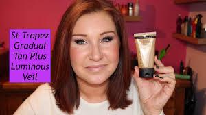 face tanning l reviews st tropez gradual tan plus luminous veil review youtube