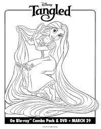 disney tangled rapunzel coloring print free download