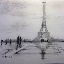 quick landscape sketch paris charcoal sketch flickr photo