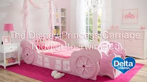 canopy toddler beds for girls disney princess carriage toddler to twin bed youtube