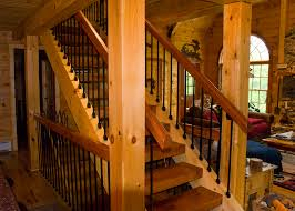 Home Interior Stairs by Log Home Interior Stairs Kyprisnews