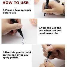 24 colors nail art pen painting set drawing design for uv gel