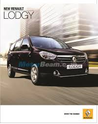 renault lodgy renault lodgy features revealed india brochure inside