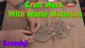 ganeshji craft work with waste materials learn craft for kids